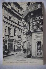 Cpa carte postale Saint Malo maison Duguay Trouin antiquités Guyomard coiffeur