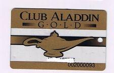 Aladdin Hotel Casino Gold Status Geni Lamp Slot Machine Card Las Vegas Nevada