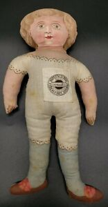 """RARE 15"""" LITHOGRAPH BEAUTIFUL COCHECO CLOTH DOLL EARLY 1890 GREAT SHAPE"""