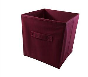 Main Stays Collapsible Kids Fabric Storage Bin Room Organizer Red