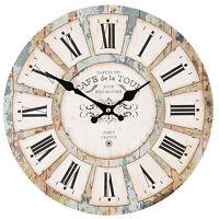 Vintage Wanduhr Nostalgie Uhr Landhausstil* CAFE de la TOUR*PARIS Shabby* Clayre
