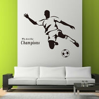 Sports Football Soccer DIY Wall Stickers Decals Home Decor Art Removable Mural