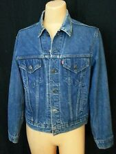 Vtg 80 90s Men Levi's Blue Jean Denim Jacket Coat Distressed Grunge Hippie 42
