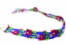 Tour de cou en tissu brodé fleur style ethnique collier Boho Collier