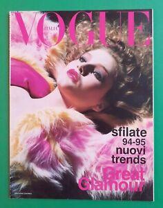 Vogue Italia Luglio 1994 July Bridget Hall Desfiles de Moda Pret A Porter Otoño
