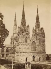 Angleterre, England, Lichfield, Staffordshire, cathédrale  Vintage albumen print