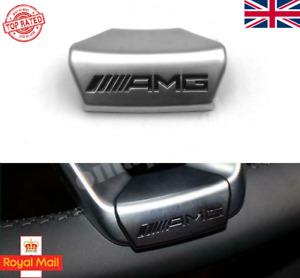 AMG Logo Sticker D Shape Steering Wheel Badge Emblem Decal For Mercedes 2015 -18