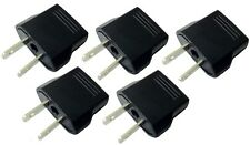 Lot 5 Pcs Euro EU AU Aus to US USA AC POWER PLUG ADAPTER TRAVEL CONVERTER