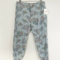 Mother No Zip Misfit Chambray Jogger Floral Womens Size 30 NWT