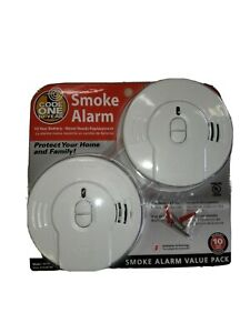 2 Pack Code One Kidde Model i9010 Smoke Alarm Detector 10 Year Lithium Battery