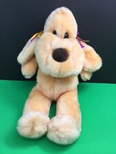 "Acme Premium Supply Orange Peach Puppy Dog 13"" Plush Stuffed Animal"