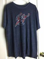 Adidas Mens Graphic Tee Basketball W Gray Short Sleeve Athletic Wear T Shirt XL