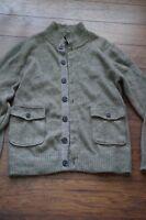Gap Mens Medium Cardigan Sweater Brown Cotton wool blend Jacket