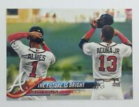 2018 Topps Update Series Ozzie Albies & Ronald Acuna Jr #US43, Braves