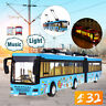 1:32 London Single Decker Tram City Bus Sound Light Alloy Model Car Child