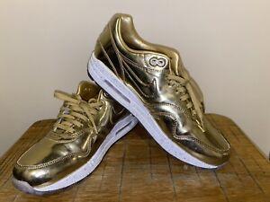 NIKE AIR MAX 1 PREMIUM ID LIQUID GOLD Size 10