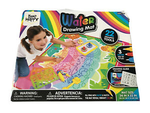 """Kids Bee Happy Water Drawing Mat 34"""" X 22"""" Drawing Tools Mess Free Doodle Pad"""