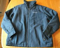 Columbia Men's XL Navy Soft Shell Fleece Lined Full Zip Winter Coat Jacket