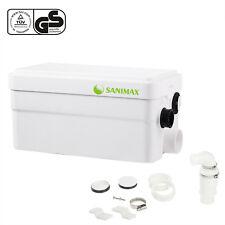 Hebeanlage Sanimax Abwasser Haushaltspumpe Super Leise mit 2 Einlässen 250W