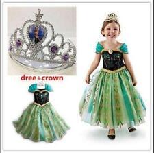 HOT!!!!  FROZEN Princess verde Anna Cosplay disfraz vestido fiesta HOT!!!!