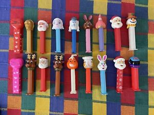 Pez Dispensers Lot (18) R2D2 Star Wars Santa Christmas Garfield Jack O Lantern