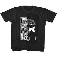 Muhammad Ali Like a Bee Black Toddler Short Sleeve T-shirt S