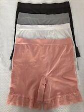 Breezies Seamless Smoothing Mid Thigh Shorts Lot 4 Size 1X ~ A374503