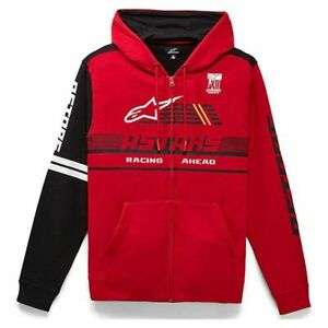 Zip Up Hoodie > Alpinestars Overtake Hooded Cotton Fleece Body - Red / Black