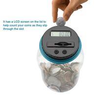 Electronic Digital LCD Coin Counter Counting Jar Money Saving Piggy Bank Box