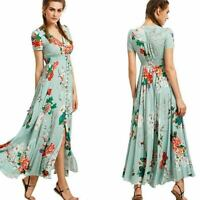 Party sundress boho evening maxi dress Women beach cocktail summer dresses long
