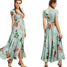 Vestido de Verano Boho noche fiesta vestido Maxi Vestidos de Verano para Mujer Playa Cóctel Largo
