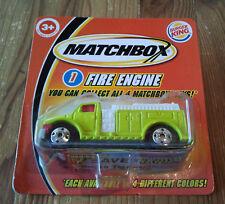 Matchbox USA Burger King Fire Engine gr��n von 2004 in OVP . Superfast