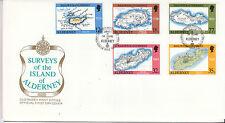 ALDERNEY 1989 250th ANNIV Bastide'S indagine sulle UFFICIALE FDC SGA37-41 CAT £ 4.75