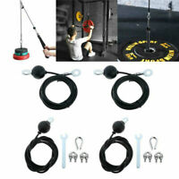 2/2.5m Home Gym Fitness Adjustable Pulley Cable Heavy Duty Steel Wire Rope Cable