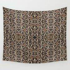 WALL TAPESTRY WALL HANGING 51x60 ~ Based on African Kuba Coth ~ Var #2 ~ Unique