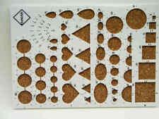 Plaque de gabarit forme quilling plastique et liège 21x15cm DIY Loisirs créatifs