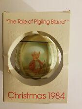 Schmid Christmas Ornament 1983 Beatrix Potter Tale of Pigling Bland