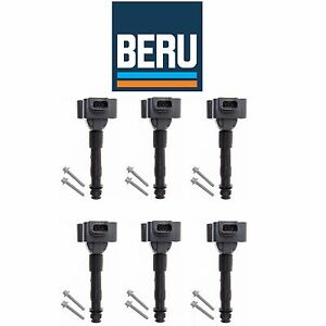 For Porsche 911 Boxster Set of 6 Ignition Coils w/ Spark Plug Connector ZS178