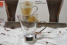 Sconto 9 tazze per cappuccino caffe  e caffe americano vetro temperato Bormioli