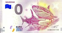 BILLET 0  EURO NAUSICAA REQUIN FRANCE  2018  NUMERO 100