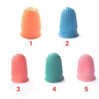 5Pcs Finger Tip Protector Quilter Thimble Cone Rubber Counting work Sewing Craft