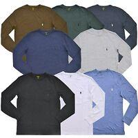Polo Ralph Lauren Mens Crew Neck Classic Fit Long Sleeve Pocket Tee T-shirt New