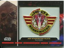 Star Wars Galactic Files Embroided Patch Relic Card PR-14 Plo Kloon