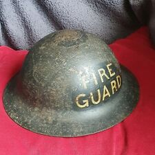 WW2 BRITISH  ARP PRIVATE PURCHASE BRODIE TYPE RAW EDGE HELMET,  FIRE GUARD BLITZ