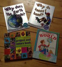 Set Of 4 Childrens Edacatonal World And Nature Books