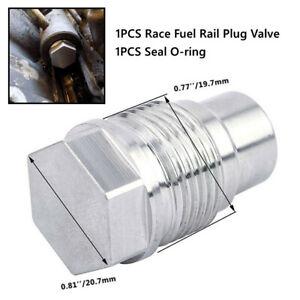 Car Race Fuel Rail Plug Valve Fit for Chevy GMC 6.6L Duramax 05-10&Dodge 6.7L
