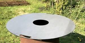 Grillplatte Feuerplatte für Stahltonne Stahlfaß Feuertonne  Ø 80 cm / 20cm  3mm