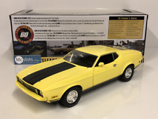 1971 Ford Mustang Mach 1 Yellow Gone in 60 Seconds 1:18 Greenlight 12910