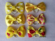 Jemlana's handmade dog,cat,pet grooming bows(6 bows)