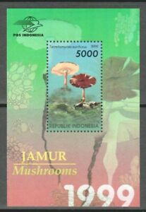 INDONESIA 1999 FUNGI MUSHROOMS SOUVENIR SHEET OF 1 STAMP IN MINT MNH UNUSED